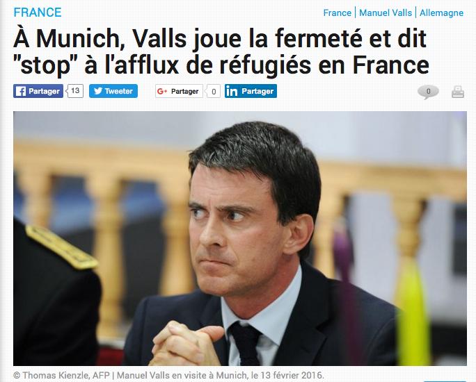 Valls les refugiés