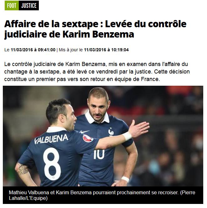 Benzema valbuena levée embargo