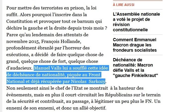 Idée décheance nationalité Valls