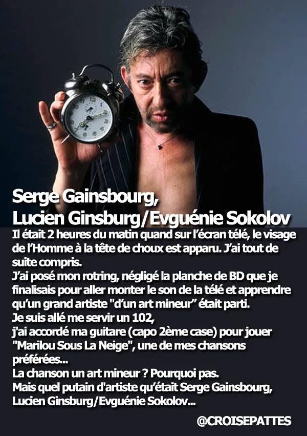 Serge Gainsbourg Marilou sous la neige Ervé