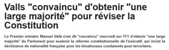 Valls convaincu majorité décheance