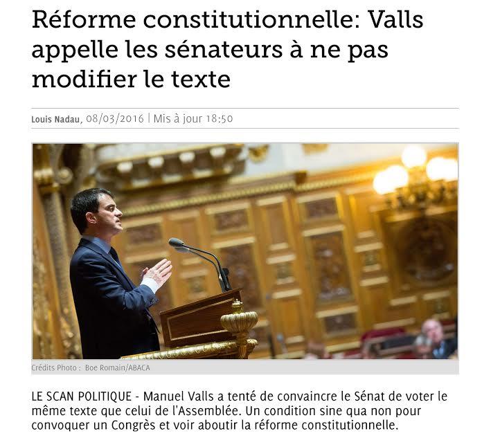 Valls Sénat Déchéance nationalité