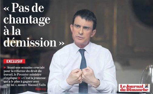 Valls veut s'expliquer JDD