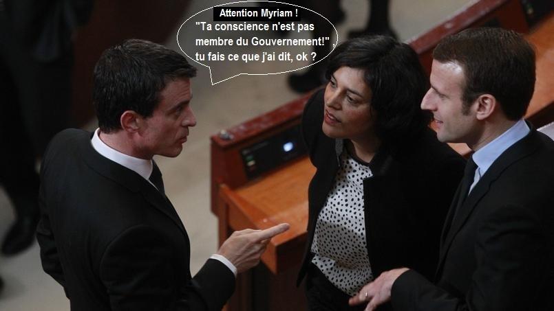 Valls Myriam El Khomri Macron conscience