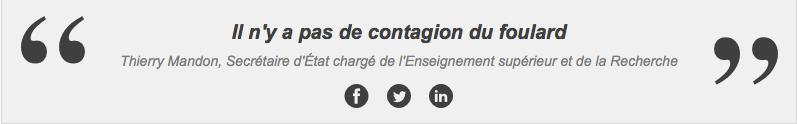Il n'y a pas de contagion du foulard Thierry Mandon