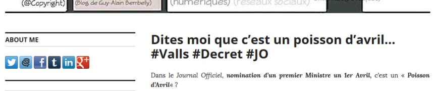 Valls nommé 1er ministre