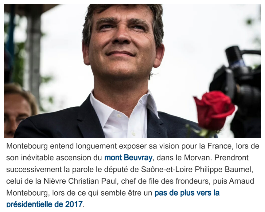 Arnaud Montebourg Mont Beuvray Présidentielle 2017
