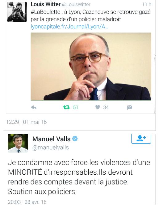 Cazeneuve Valls Violences policière Rennes Lyon