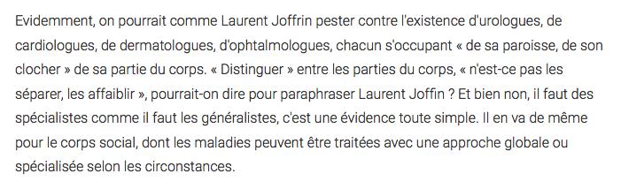 Joffrin Libé et la antiraciste