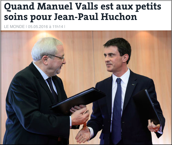 Manuel Valls aux petits soins pour Jean-Paul Huchon