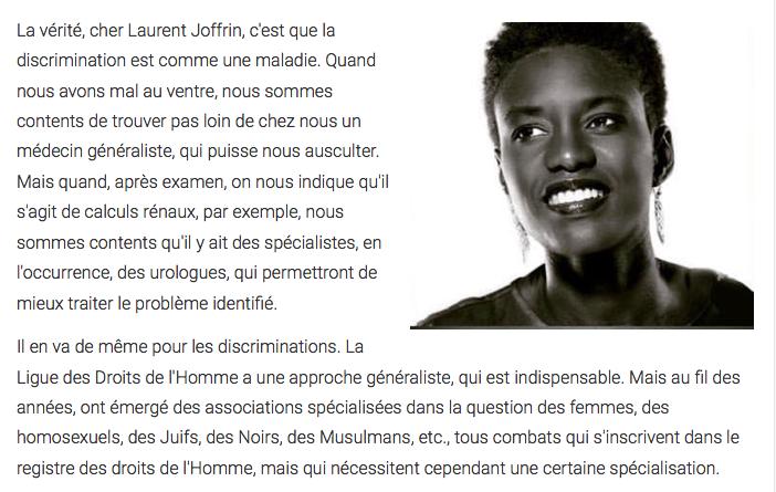 Rokhaya Diallo Joffrin Libé racisme