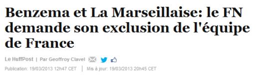 Benzema le FN demande son exclusion de l'équipe de France