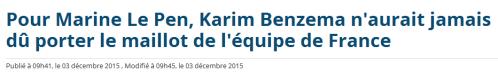 Benzema Marine Le Pen