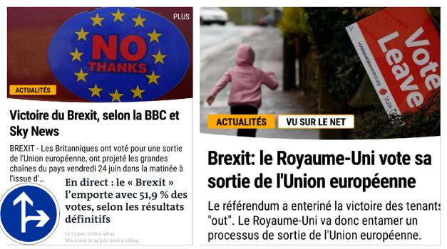 Brexit Uk UE victoire du non Angleterre quitte l'union europeenne
