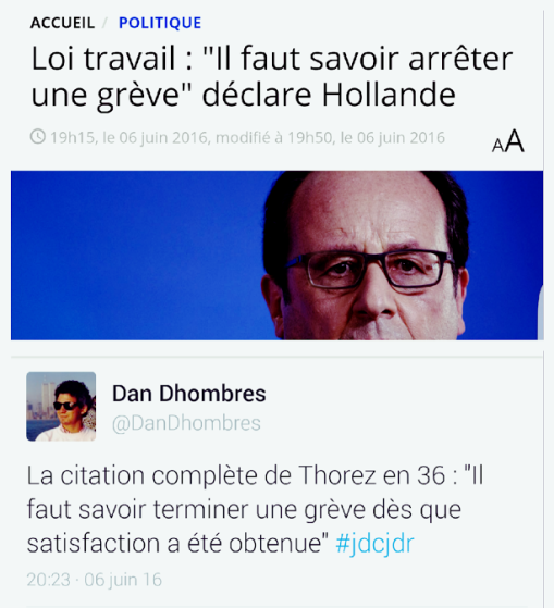 Hollande Thorez savoir finir une grève Dhombres