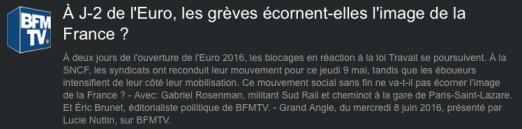 l'Euro, les grèves écornent-elles l'image de la France ?