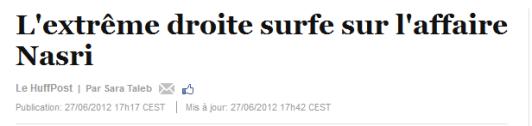 L'extrême droite surfe sur l'affaire Nasri