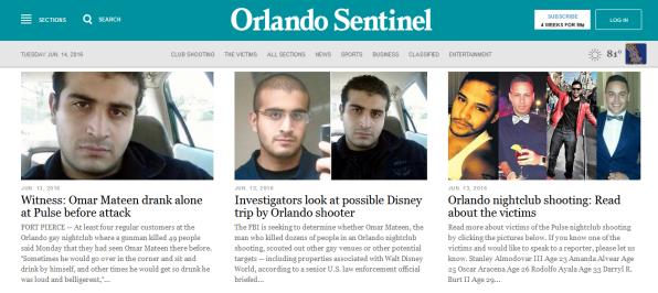 Orlando Sentinel Omar Mateen