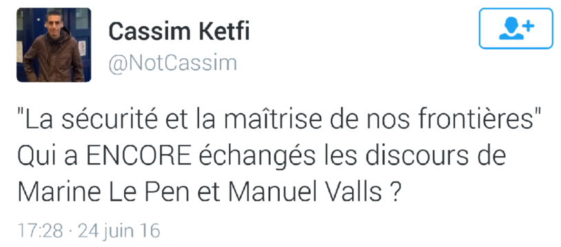 Valls sur les pas de Marine Le pen