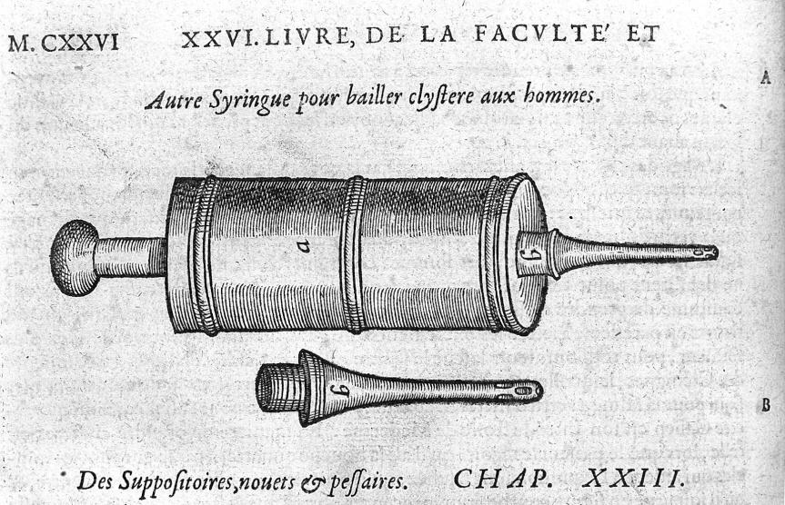 Article 49.3 Syringue pour bailler clyftere aux hommes