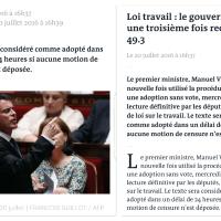 Art.49 #Valls de 3: Loi #Travailforcé ...