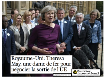 Royaume-Uni: Theresa May, une dame de fer pour négocier la sortie de l'UE