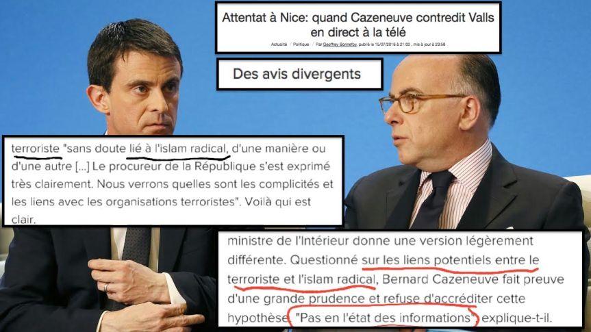 Valls Cazeneuve Terrorisme Nice