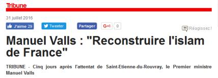 Valls reconstruire l'islam de France