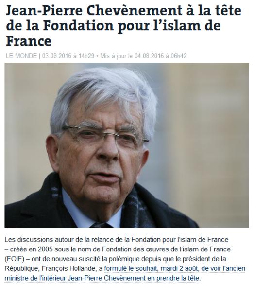 Chevenement Iman de France 2