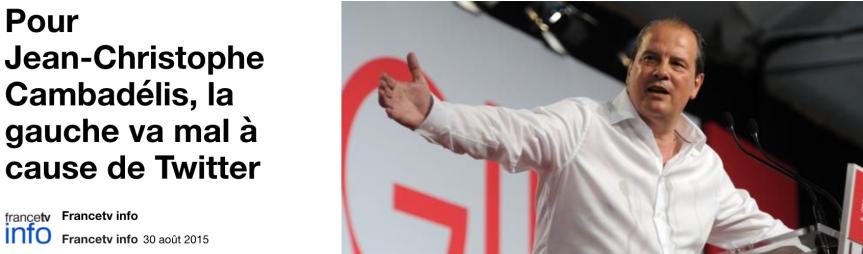 Pour Jean-Christophe Cambadélis, la gauche va mal à cause de Twitter