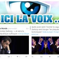 """Nicolas [#Sarkozy], """"ici la voix..."""""""