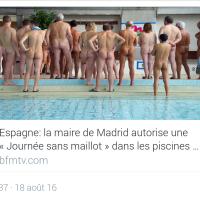 Les *valeurs* de l'Espagne de #Valls: Communautarisme à poil dans unepiscine publique...