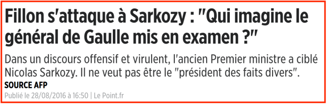 Sarkozy en correctionelle Fillon De Gaulle