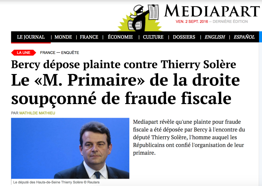Thierry Solière UMP Les républicains Fraude fisclae