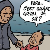 """Papa ... c'est quand qu'on va où?""  Question de l'enfant #migrant ..."