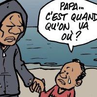 """""""Papa ... c'est quand qu'on va où?""""  Question de l'enfant #migrant ..."""
