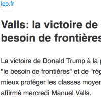 Récup': Manuel Valls se #Trump, déjà ...