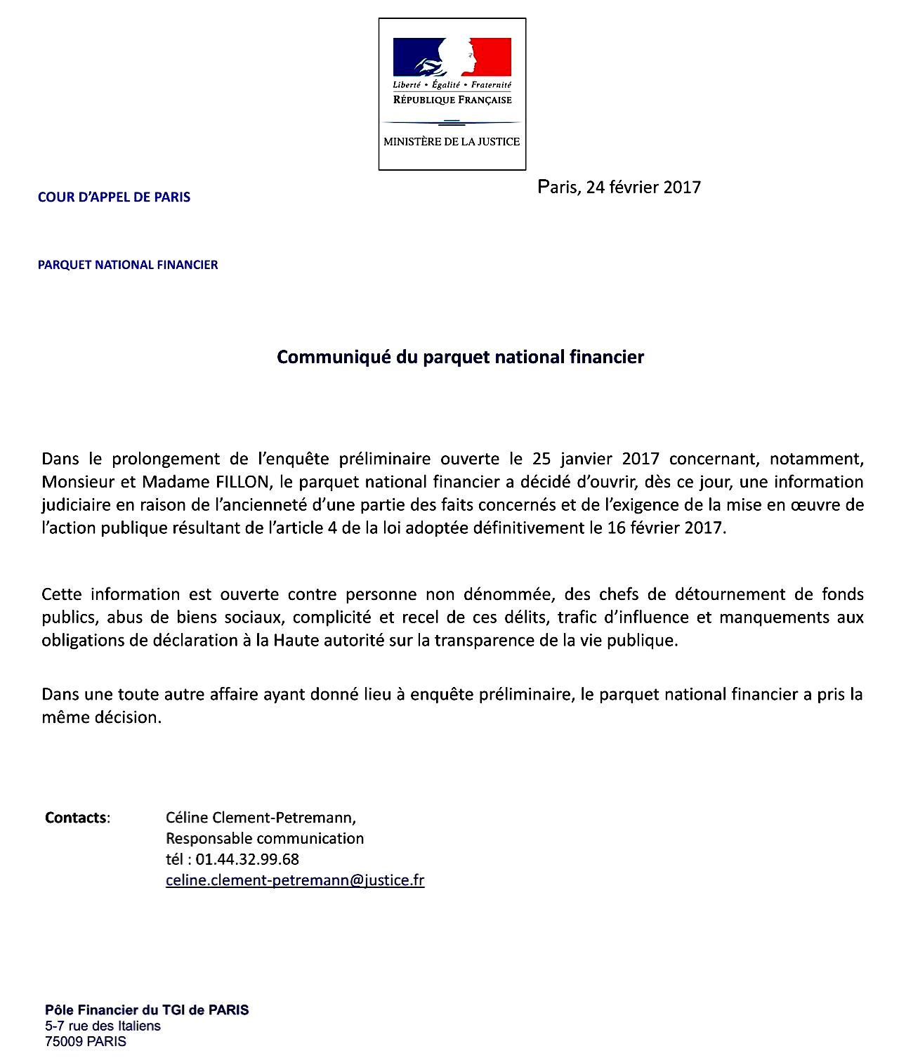 affairefillon-parquet-nf-instruction-judiciare-acte