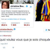 Un couple gay reçu au Vatican, Ch. Boutin «pas choquée». Miracle! Elle «va mieux», Alléluia!