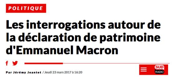 Les interrogations autour de la déclaration de patrimoine d'Emmanuel Macron