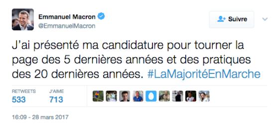 Macron pour tourner la page des 5 dernières années et des pratiques des 20 dernières