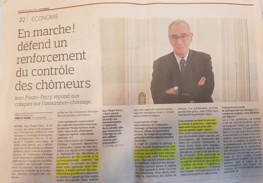 Projet Macron traitement chômeurs