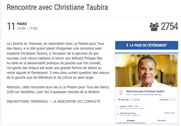 Rencontre avec Christiane Taubira Lyon