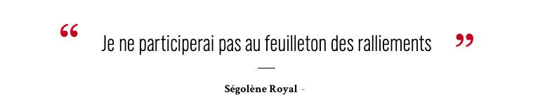 Ségolène Royal Macron c'est non