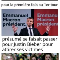 E.#Macron Président dès le 1er tour grâce à un sondage @BFMTV / & News_à_la_Con ...