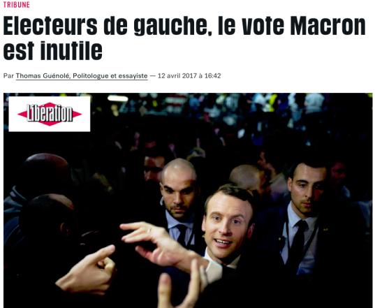Electeurs de gauche, le vote Macron est inutile