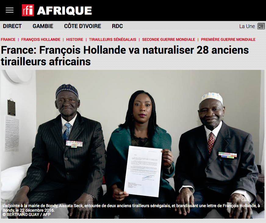 François Hollande va naturaliser 28 anciens tirailleurs africains