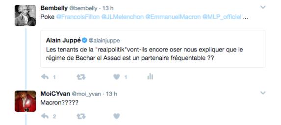 MAcron Lemission politique Bachar Syrie