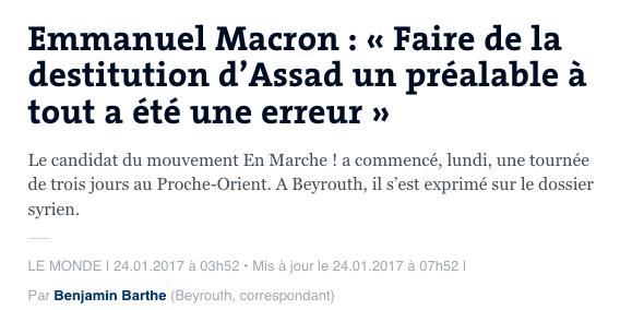 Macron Syrie Bachar