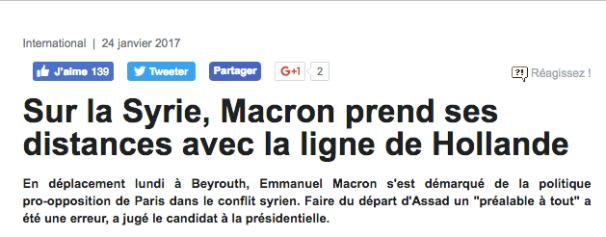 Macron Syrie Hollande